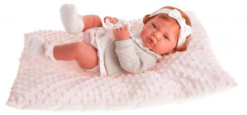 5034P кукла-младенец Розарио в розовом, 42 см