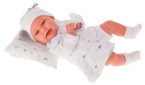 7045W Кукла Пенелопа в белом, озвученная (детский лепет), 34 см