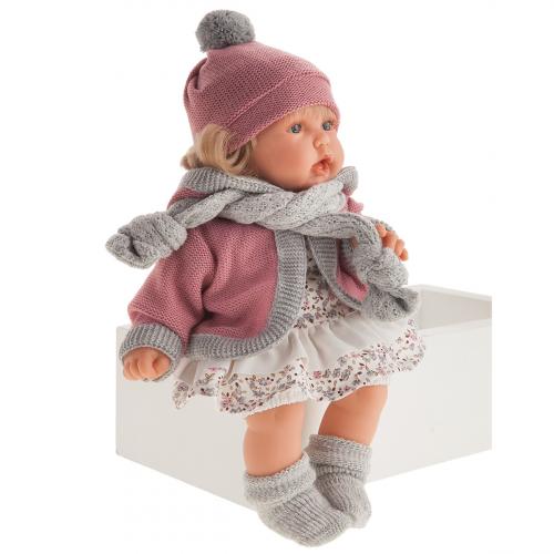 1234 Кукла Солидад в розовом озвученная   (мама, папа, смех)., 27 см