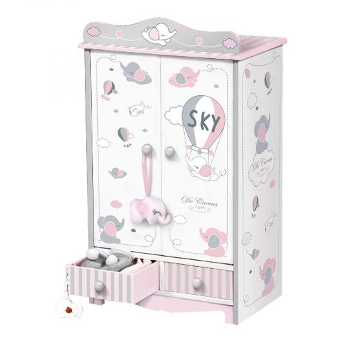 54035 Гардеробный шкаф для куклы серии Скай, 54 см