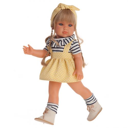 2819 Кукла Долорес в желтом, 45 см