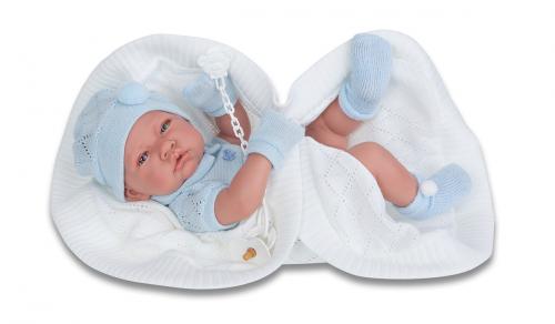 5063B Кукла-младенец Тони (мальчик) в голубом,42см