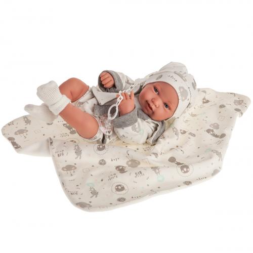 5083 Кукла Клаудия в сером, 42 см