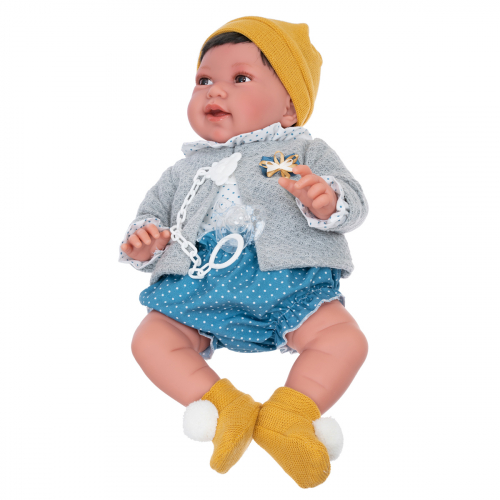 3305 Кукла Елена в желтом, 40 см