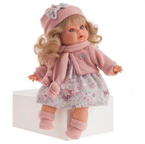 1340 Кукла Марисела в розовом, озвученная (плач), 30см