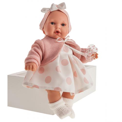 1118 Кукла Памела в розовом, озвученная (плач), 27см