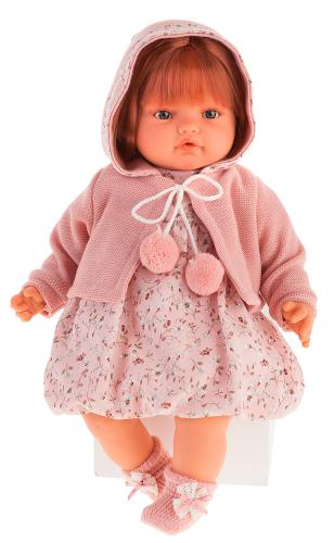 1671Br Кукла Изабелла в  светло-розовом, озвученная (плач), 42 см