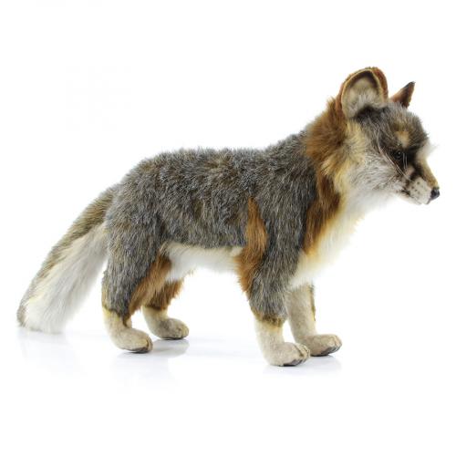 4700Л Серая лисица стоящая, 40 см