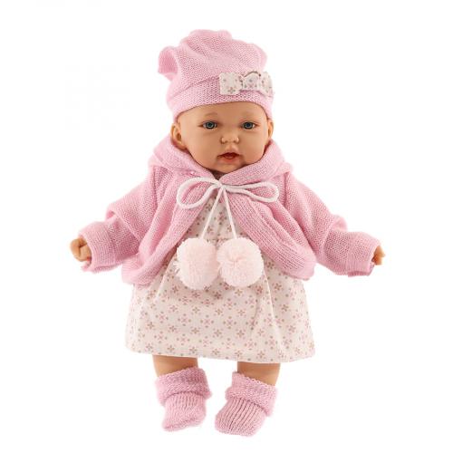 1220P Кукла Азалия в розовом, озвученная (мама, папа, смех), 27 см