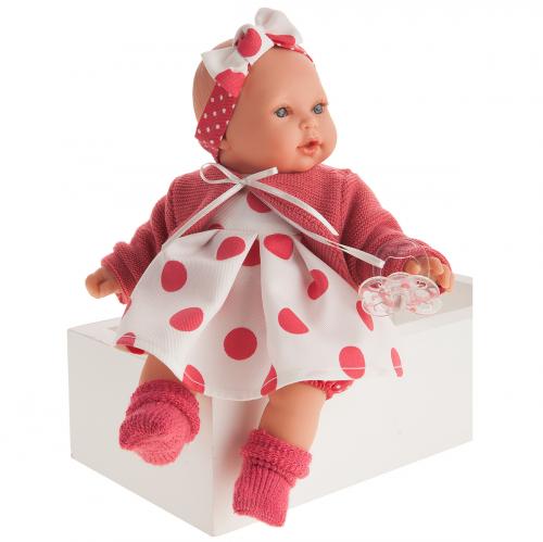 1117 Кукла Памела в красном, озвученная (плач), 27см