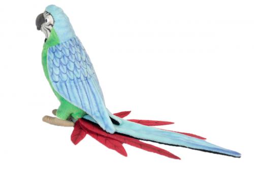 3324 Попугай зеленый, 37 см