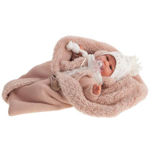 7046 Кукла Лейла в бежевом, озвученная (детский лепет), 34 см