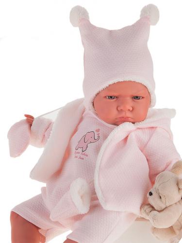 8158P Кукла Реборн младенец Салюд в розовом 52см
