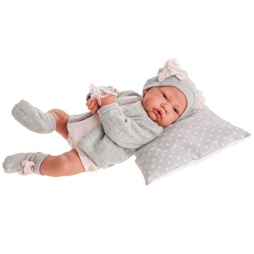 3386 Кукла Валерия в сером, 40 см