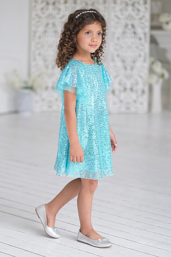 Платье #248927Бирюзовый