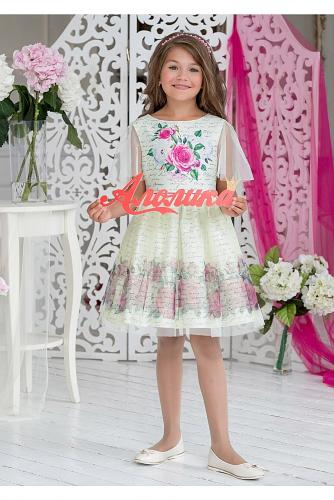 Платье #198413Финела ванильный