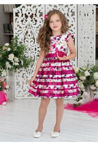 Платье #198404Тереза малиновый