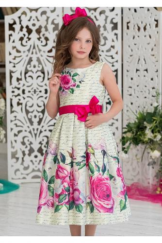 Платье #198237Марибель ванильный