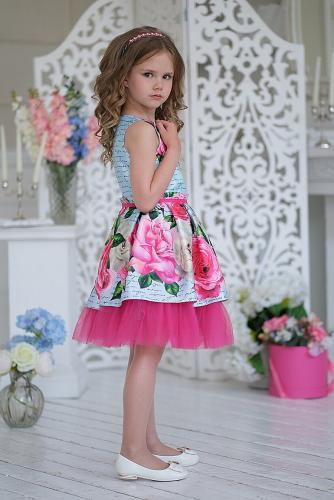Платье #198371Розана голубой