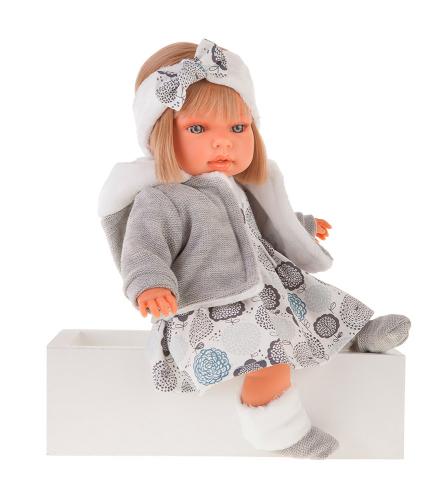 1 шт. доступно/ 1561G Кукла Валентина в сером озвученная (мама, папа, смех), 37см