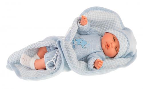 7 шт. доступно/ 1452B Кукла Вега в голубом, озвученная (плач), 37см
