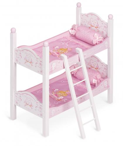 3 шт. доступно/ 54223 Кроватка для куклы двухъярусная серии Мария, 57 см