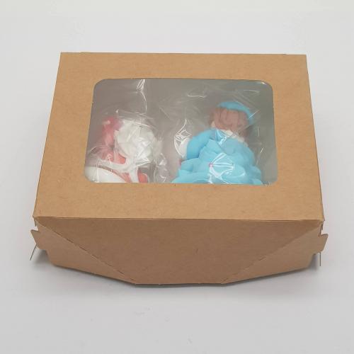 Сахарные фигурки: пара Дед Мороз и Снегурочка - украшение для торта
