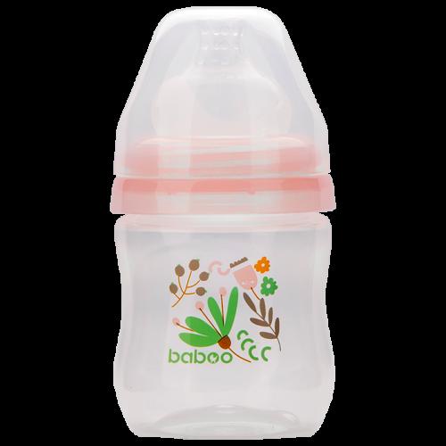 3-101 Бутылочка с соской силик. (широкая)  130 мл. Flora 0 мес+  BABOO
