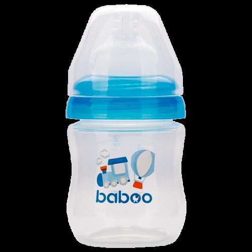 3-102 Бутылочка с соской силик. (широкая)  130 мл. Transport 0 мес+ BABOO