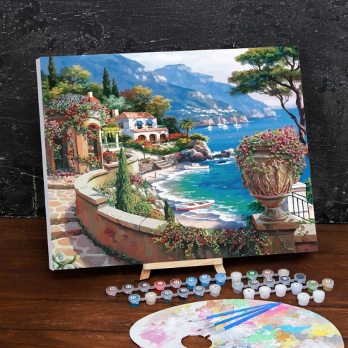 Картина по номерам на холсте с подрамником «Набережная» 40×50 см