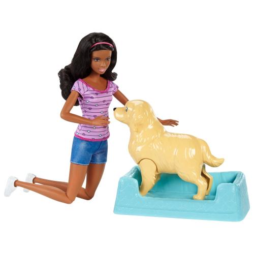 Кукла Barbie с собакой с новорожденными щенками в ассортименте 28 см
