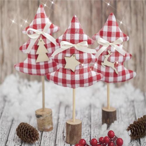 Ёлки на подставке «Зимние радости», набор для шитья, 10,5 × 16 × 5 см