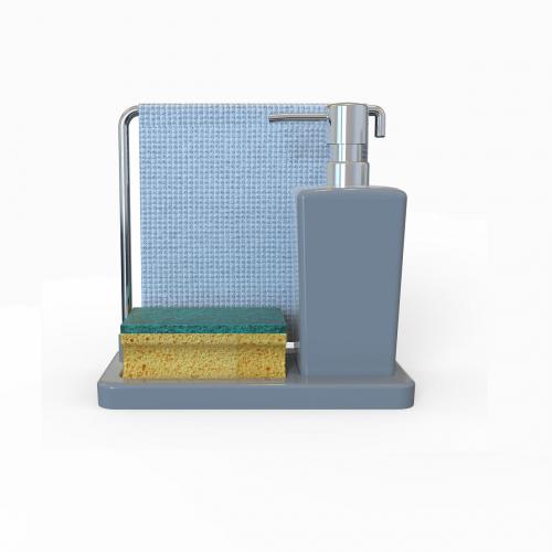 LUNA Диспенсер для моющего средства объёмом 420 мл с вращающейся вешалкой для салфетки.