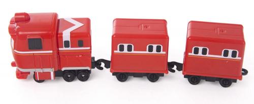 Паровозик с двумя вагонами Альф
