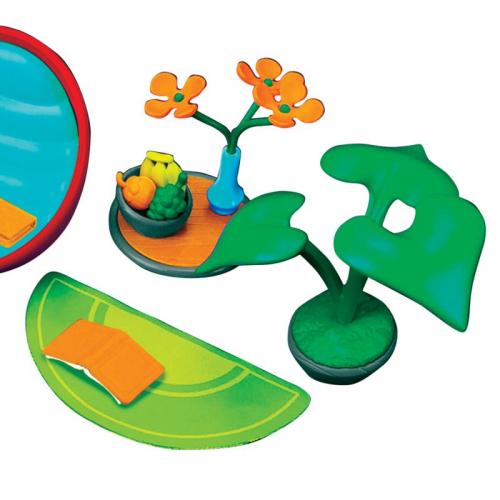 Набор аксессуаров для гостиной комнаты (с зеленым ковром)