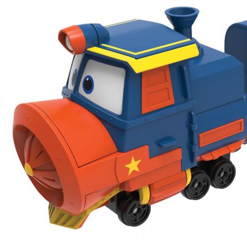 Паровозик с двумя вагонами Виктор