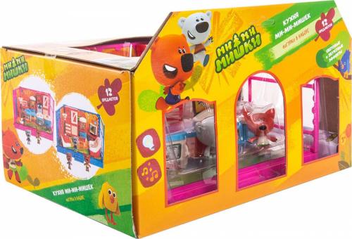 Игровой набор МИ-МИ-МИШКИ,  Кеша, Тучка и Лисичка, Кухня, 12 деталей интерьера