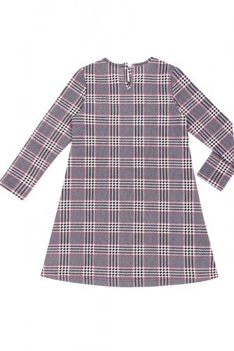 Платье #167492Черный/клетка гусиная лапка черный/красный