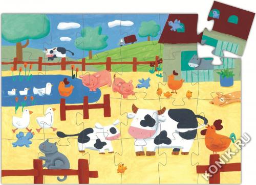 Пазл, Коровы на ферме