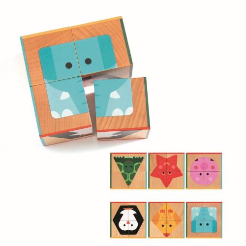 Кубики, 4 шт, Животные