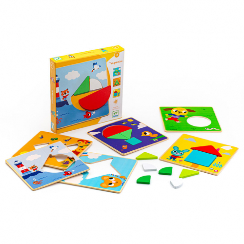 Развивающая игра Пазл-Танграм мини