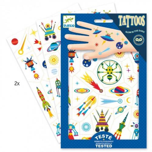 Татуировки, светящиеся в темноте