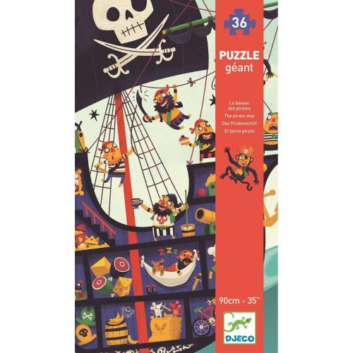 Пазл гигант, 36 дет., Пиратский корабль