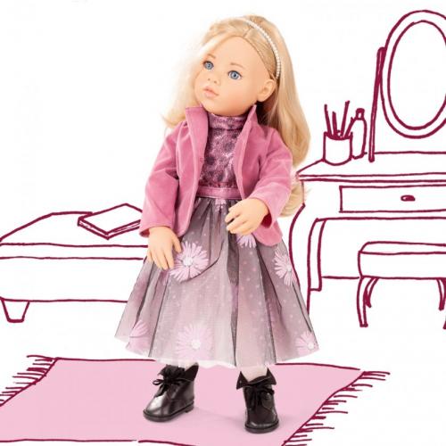 Кукла София, блондинка в розовом аутфите, 50см