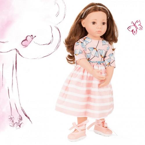 Кукла Софи, шатенка в летнем платье,50 см