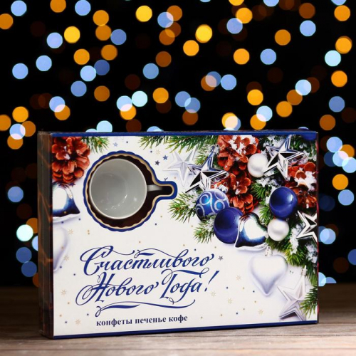 Новогодний набор «Шоколадные Мечты» пенал синий 400 г