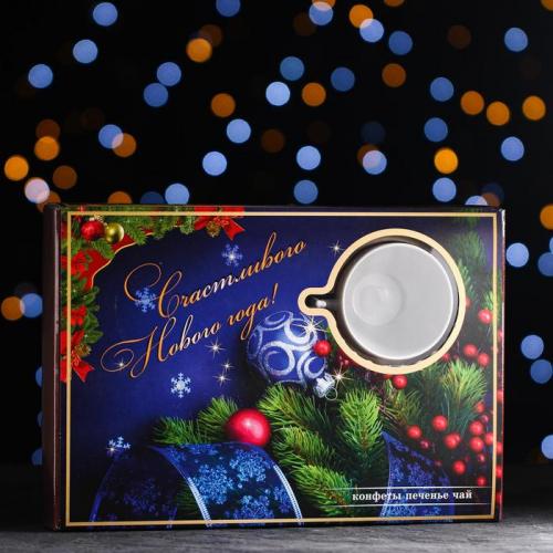 Новогодний набор «Шоколадная Фантазия» пенал синий 400 г