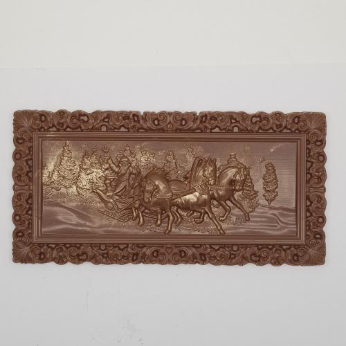 Шоколадная плитка Тройка