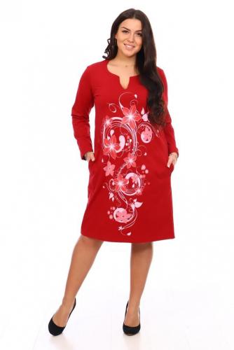 Платье Джуди (бордовое)