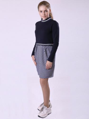 Платье приталенное с юбкой прямого силуэта 193212608